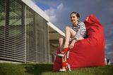 Tuli Smart Nicht abnehmbarer Bezug - Polyester Dunkelrot