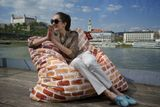 Tuli Smart Abnehmbarer Bezug - Polyester gemustert  Farbkleckser