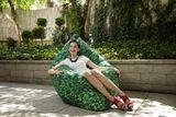 Tuli Sofa Nicht abnehmbarer Bezug - Polyester Türkis