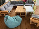 Tuli Relax Nicht abnehmbarer Bezug - Polyester Hellgrün