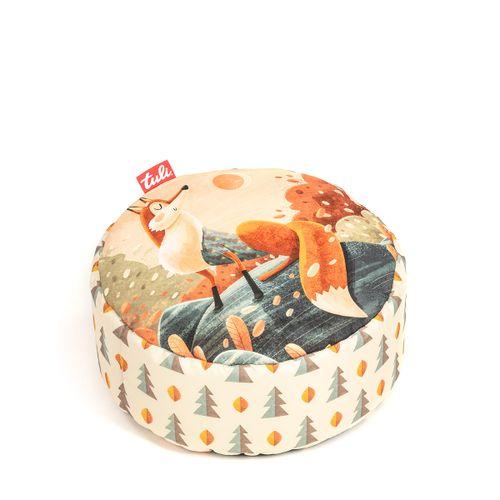 Tuli Puf Nicht abnehmbarer Bezug - Polyester gemustert  Fuchs
